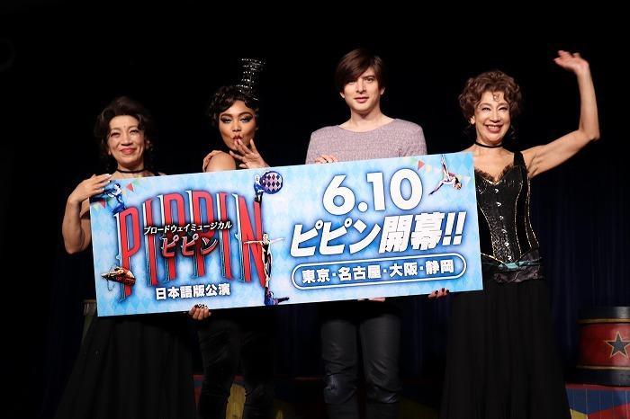 (左から)中尾ミエ、クリスタル・ケイ、城田優、前田美波里