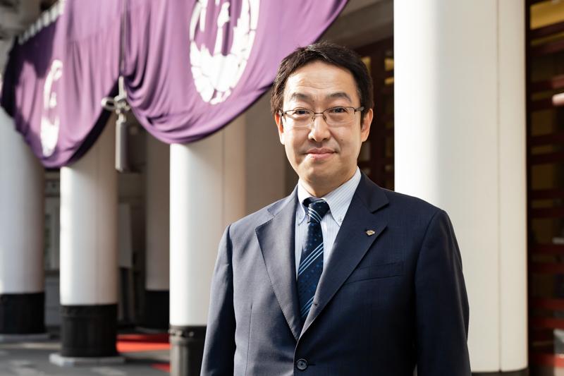 現・支配人の千田さんは、4月まで大阪松竹座の支配人をつとめていた。