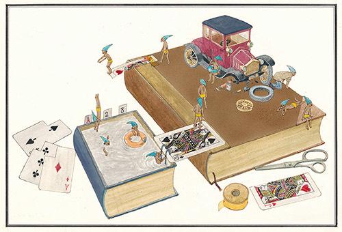 『ふしぎなえ』 8-9P 1968年 津和野町立安野光雅美術館蔵 (C)空想工房