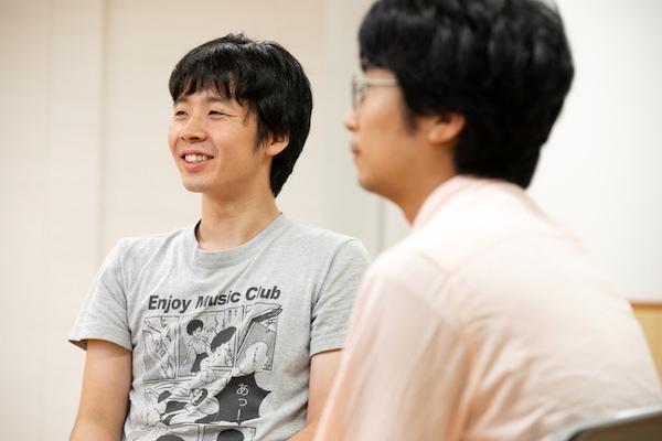 左から渋木のぼる(パブロ学級)、金子鈴幸(コンプソンズ)