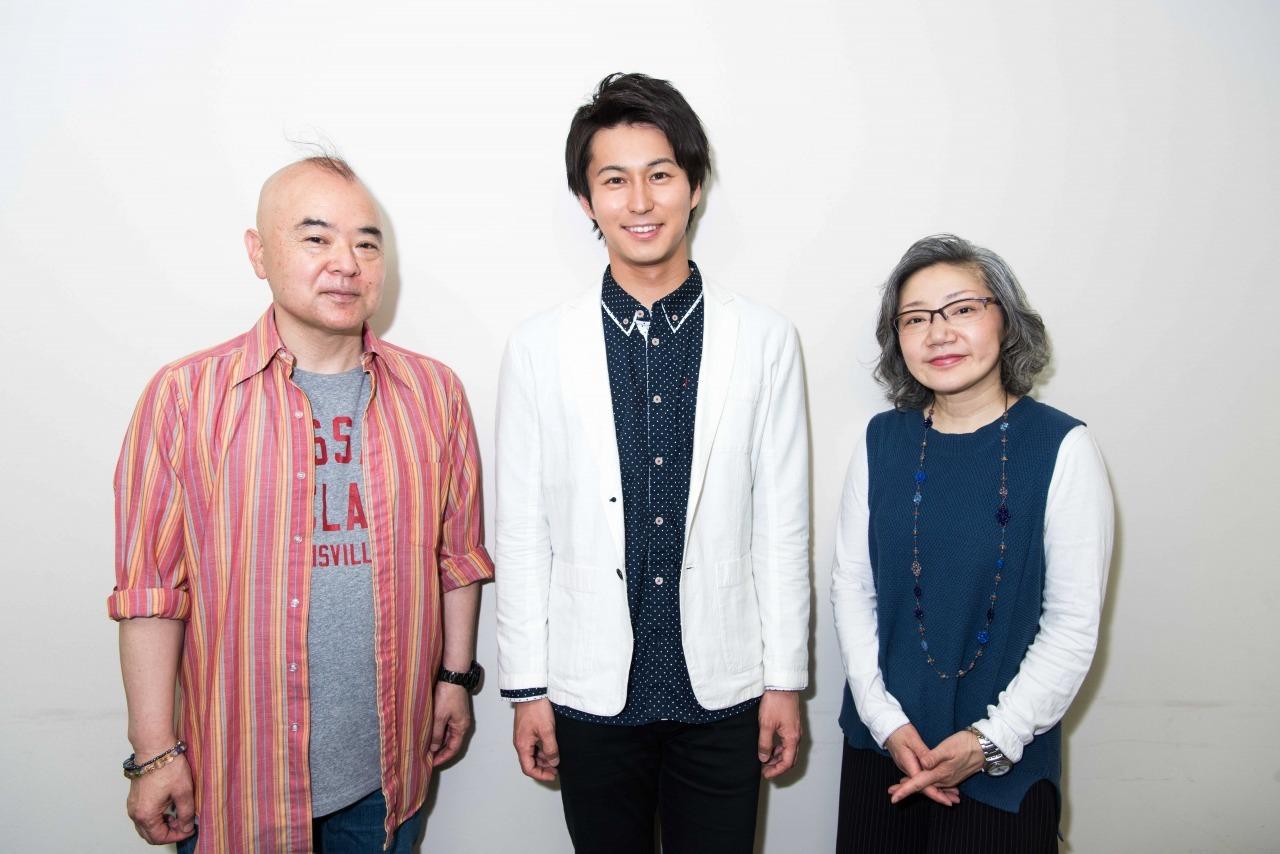 (左から)わかぎゑふ、酒井敏也、三上真史