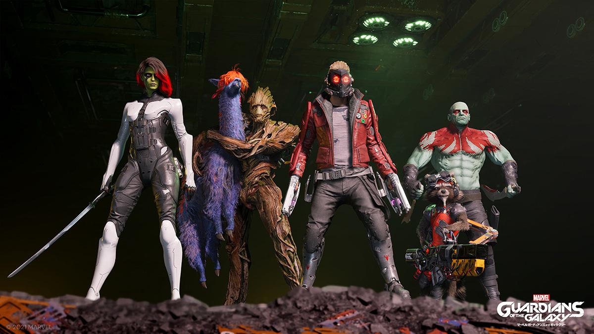 『Marvel's Guardians of the Galaxy』(マーベル ガーディアンズ・オブ・ギャラクシー)キーアート