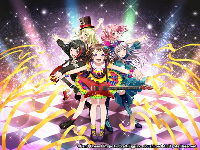 2周年記念キービジュアル (c)BanG Dream! Project (c)Craft Egg Inc. (c)bushiroad All Rights Reserved.