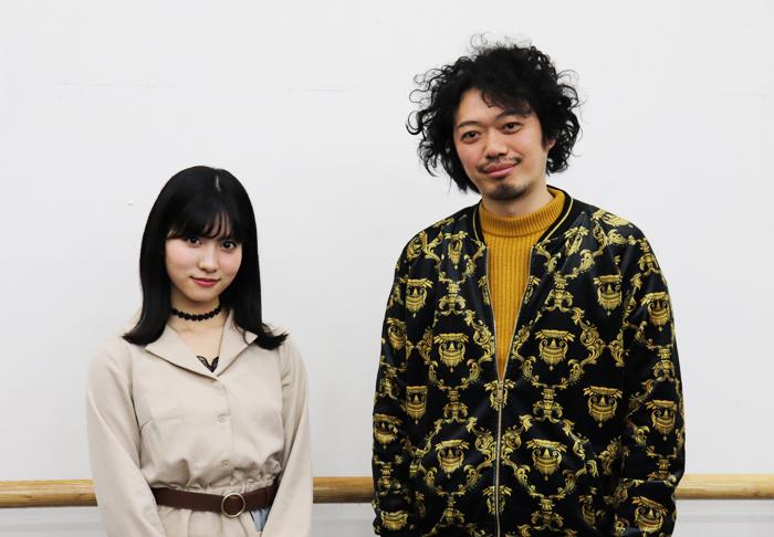 舞台「山犬」インタビュー 写真左から谷口めぐ、丸尾丸一郎