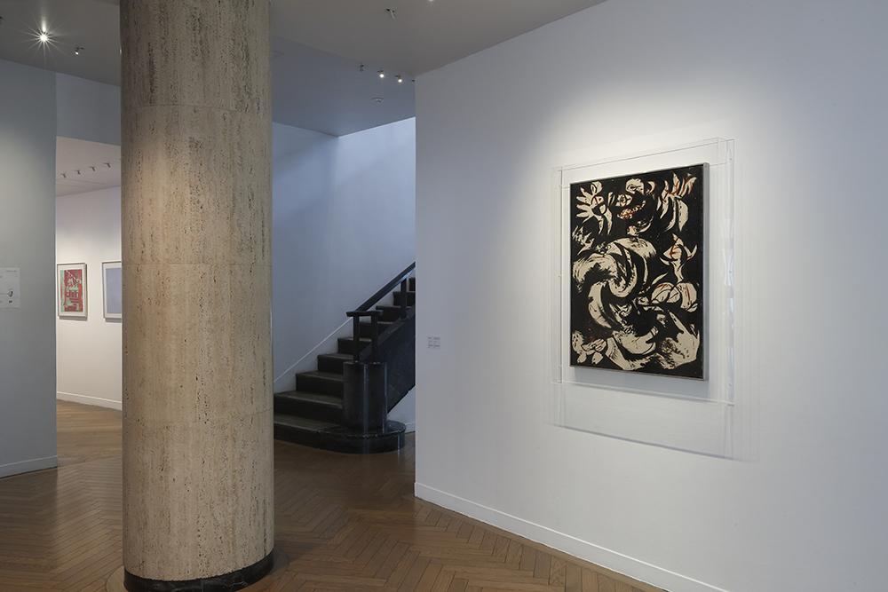 ジャクソン ポロック「黒、白、茶」1952 カンヴァスに油彩 91×70 cm 撮影:木奥惠三