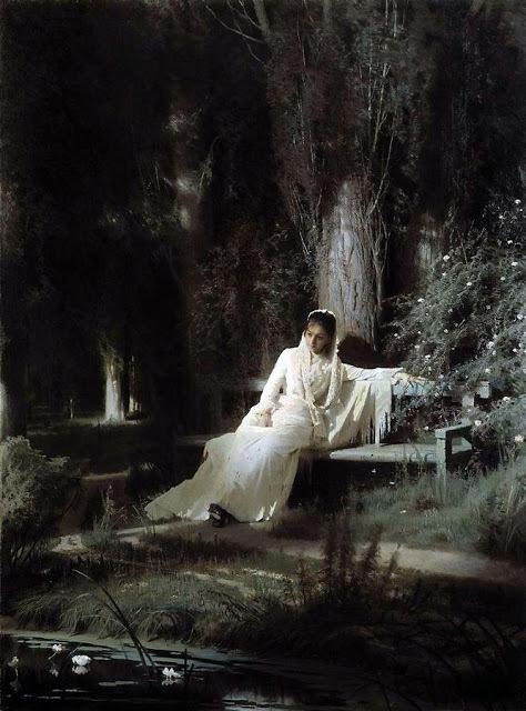 イワン・クラムスコイ 《月明かりの夜》 1880年 油彩・キャンヴァス (C) The State Tretyakov Gallery