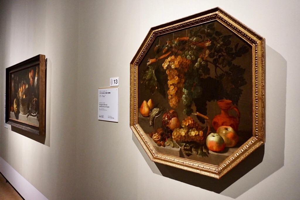 フアン・デ・エスピノーサ 《ブドウのある八角形の静物》 1646 年 マドリード、プラド美術館蔵