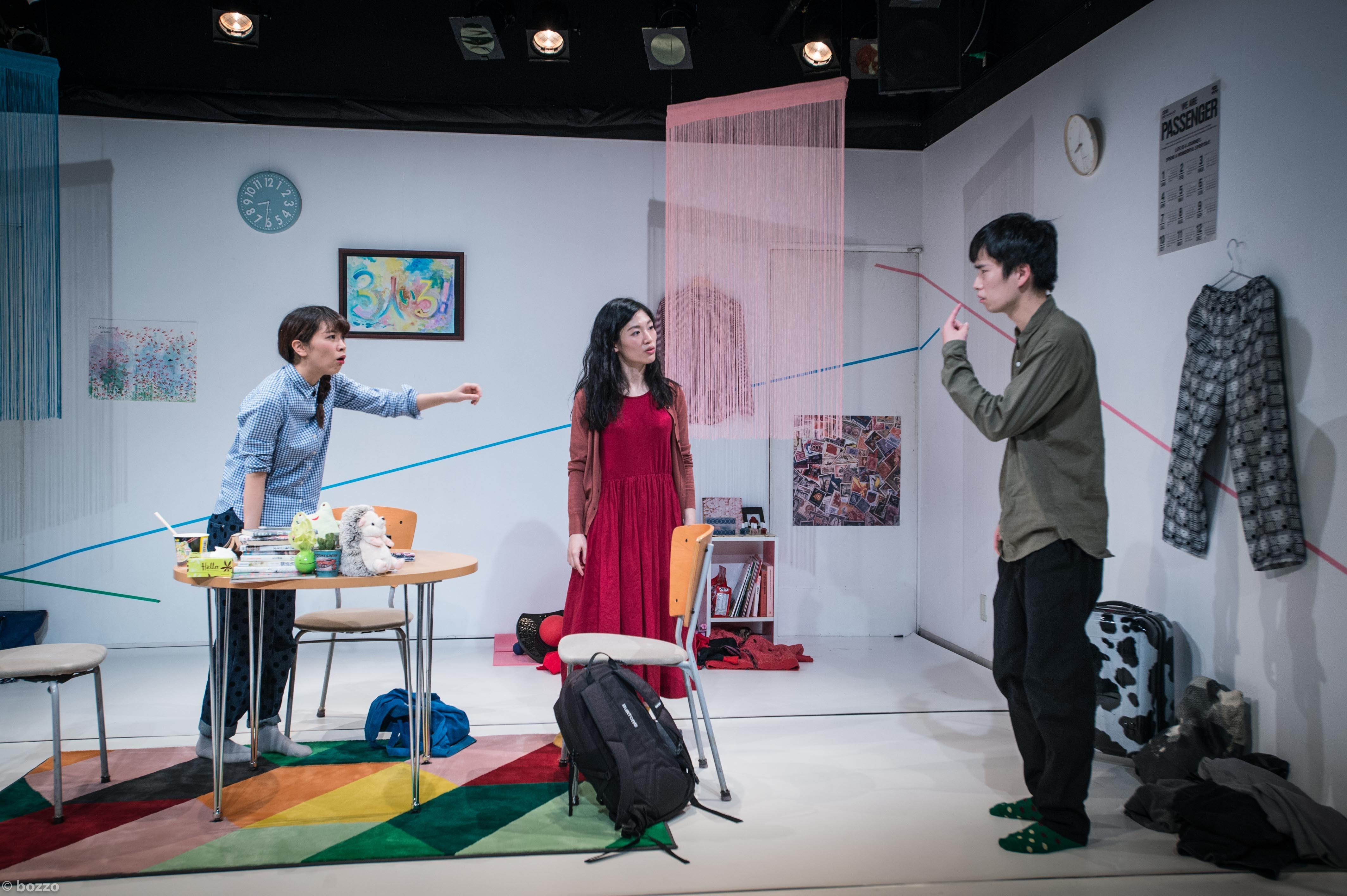 東京デスロック公演『3人いる!』(STスポット) 撮影/bozzo