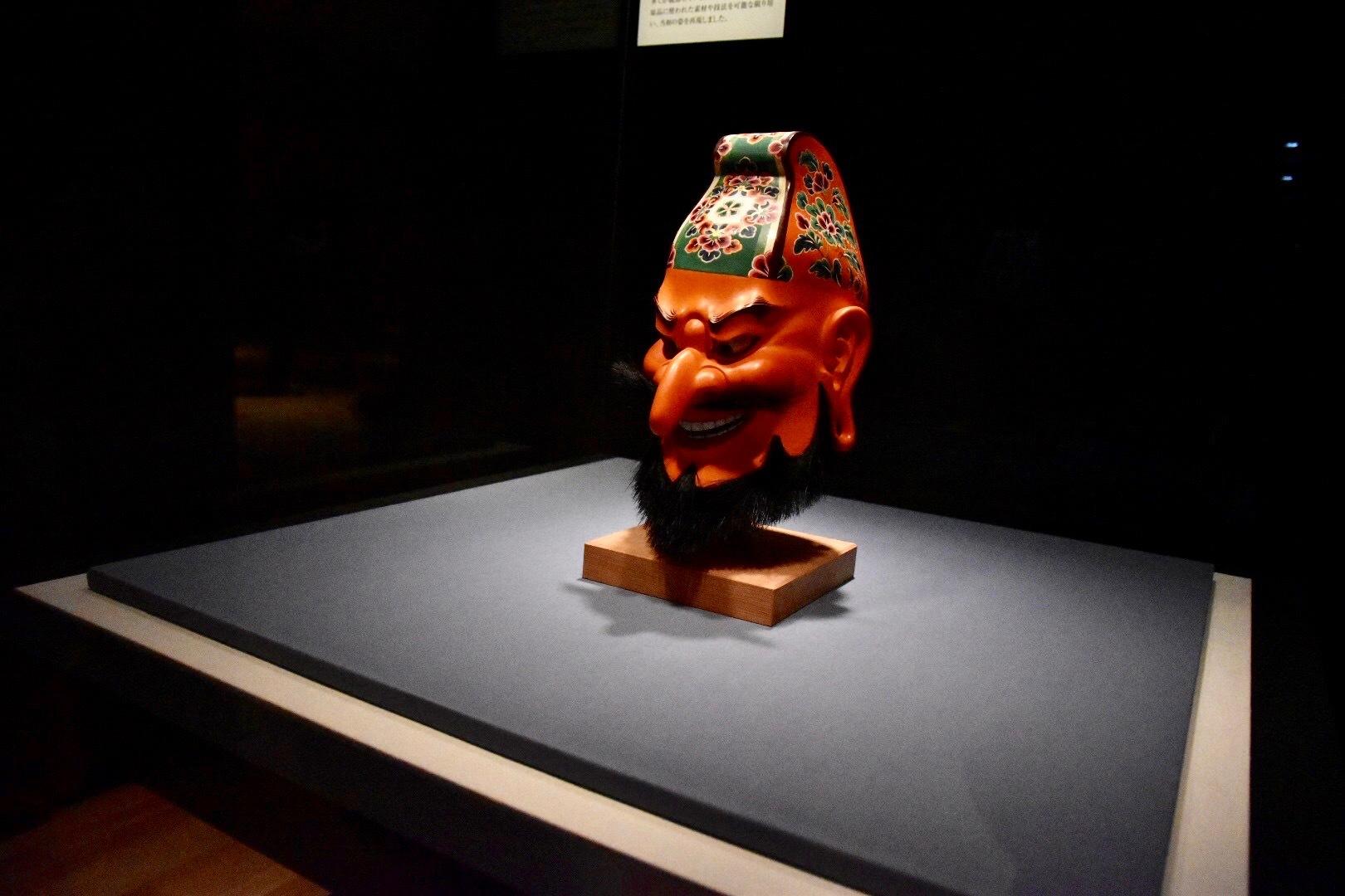 《模造 伎楽面 酔胡王》 平成16年(2004年) 正倉院事務所蔵 前期展示