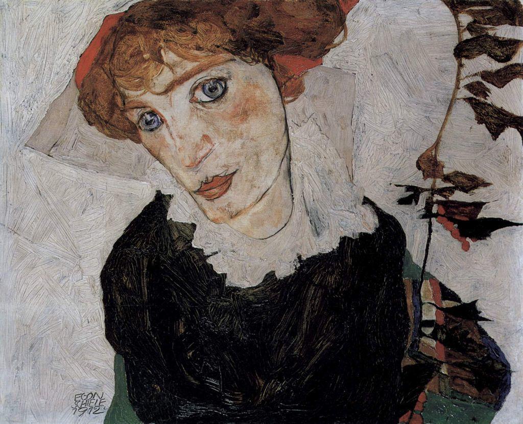 《Wally von Egon Schiele》エゴン・シーレ/1912年/Öl auf Holz/Leopold Museum 出典=ウィキメディア・コモンズ (Wikimedia Commons)