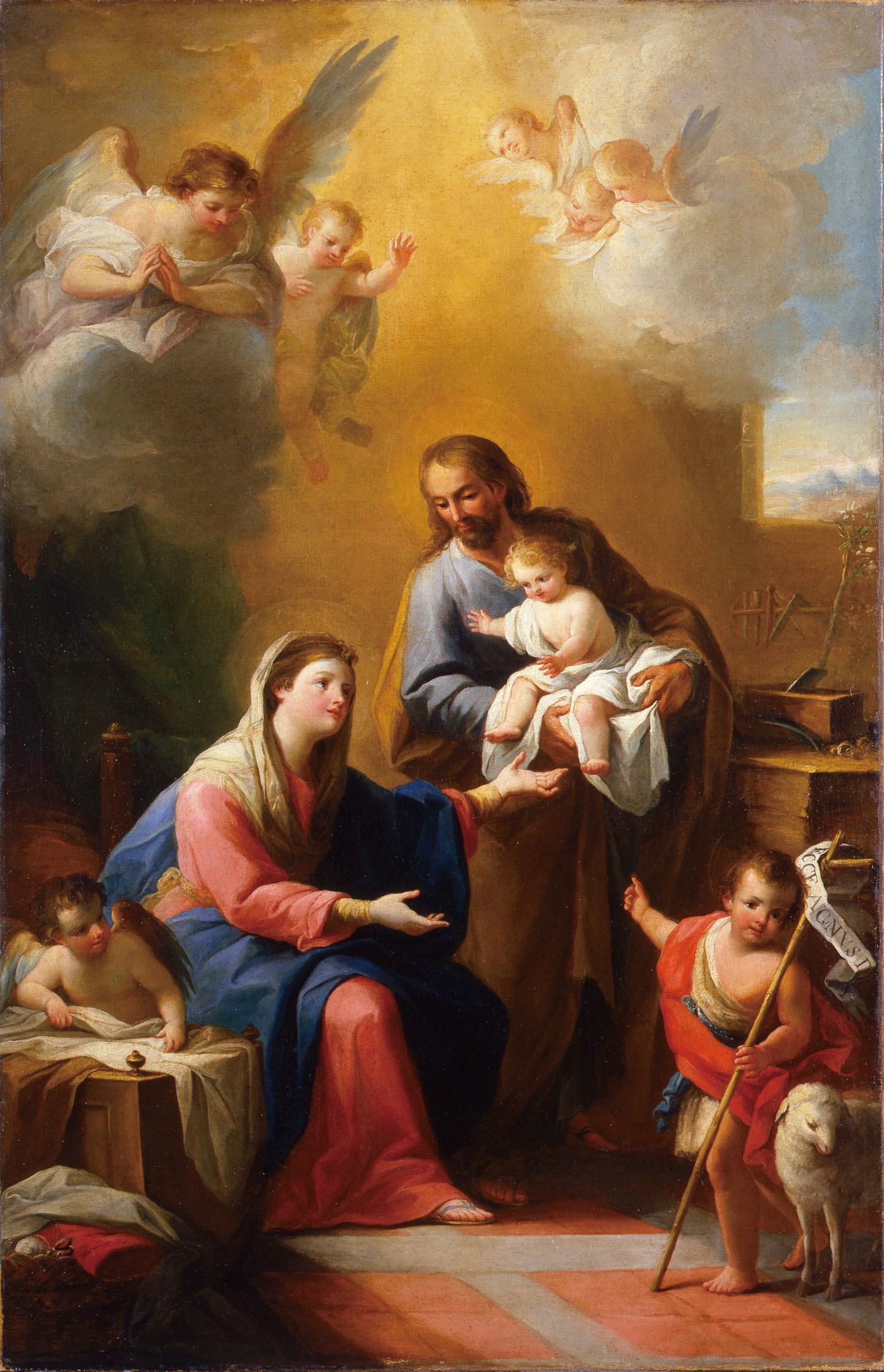 マリアーノ・サルバドール・マエーリャ「聖家族と幼い洗礼者ヨハネ」