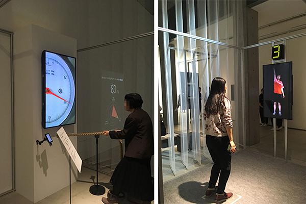 「身体コントロール」(時里充、劉功眞)写真左が「グレーディング」、同右「タイミング」