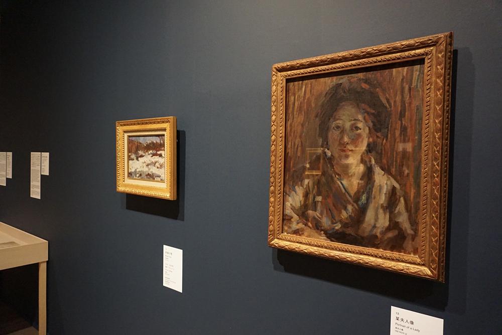 熊谷の妻となる秀子夫人の肖像画も。 右手前から:《某夫人像》 1918年 豊島区立熊谷守一美術館 《赤城の雪》 1916年 岐阜県美術館