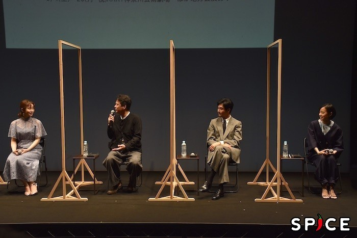 笹本玲奈、田中哲司、松田龍平、石橋静河(左から)