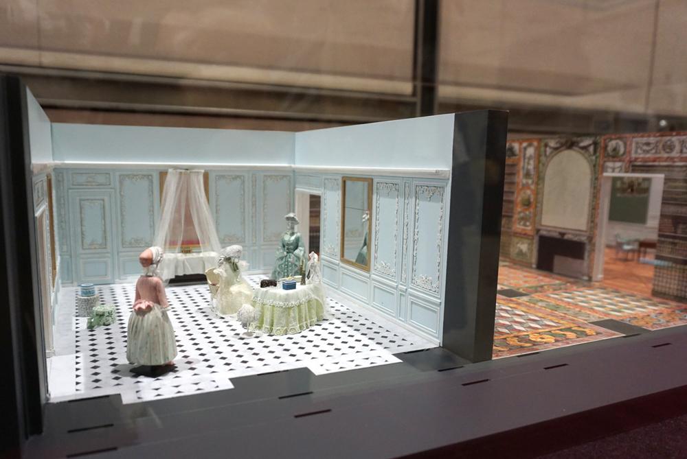 原寸大で再現される『プチ・アパルトマン』の完成予想模型(浴室)