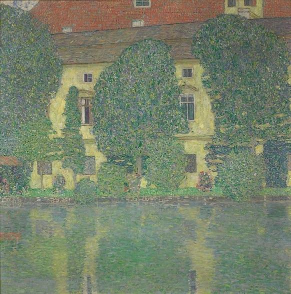 グスタフ・クリムト《アッター湖畔のカンマー城III》  1909/1910年 油彩、カンヴァス 110 x 110 cm ウィーン、ベルヴェデーレ宮オーストリア絵画館 (C) Belvedere, Vienna, Photo: Johannes Stoll