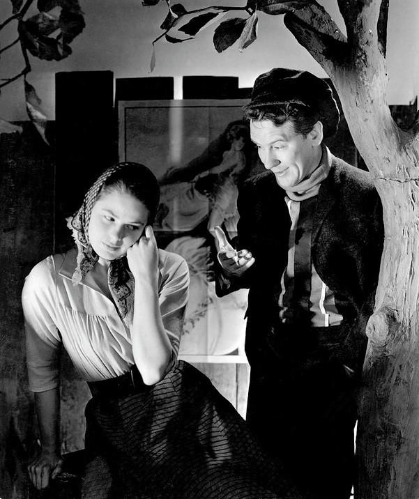 『リリオム』ブロードウェイ再演(1940年)のバージェス・メレディス(右)とイングリッド・バーグマン