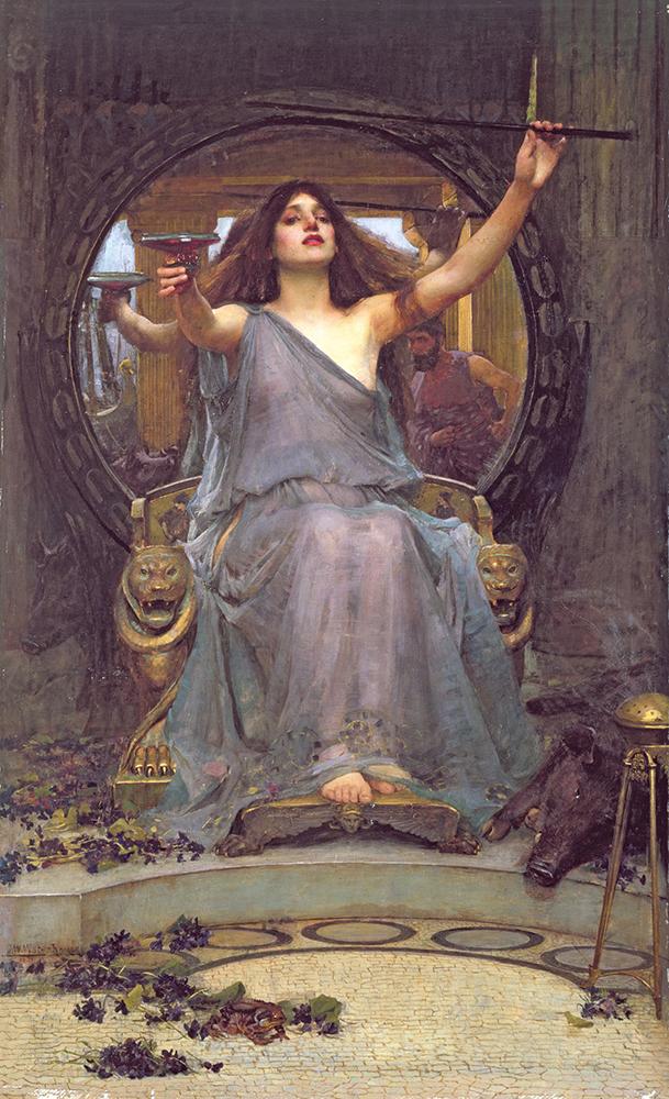 ジョン・ウィリアム・ウォーターハウス 《オデュッセウスに杯を差し出すキルケー》 1891年 油彩・カンヴァス オールダム美術館蔵 ©Image courtesy of Gallery Oldham