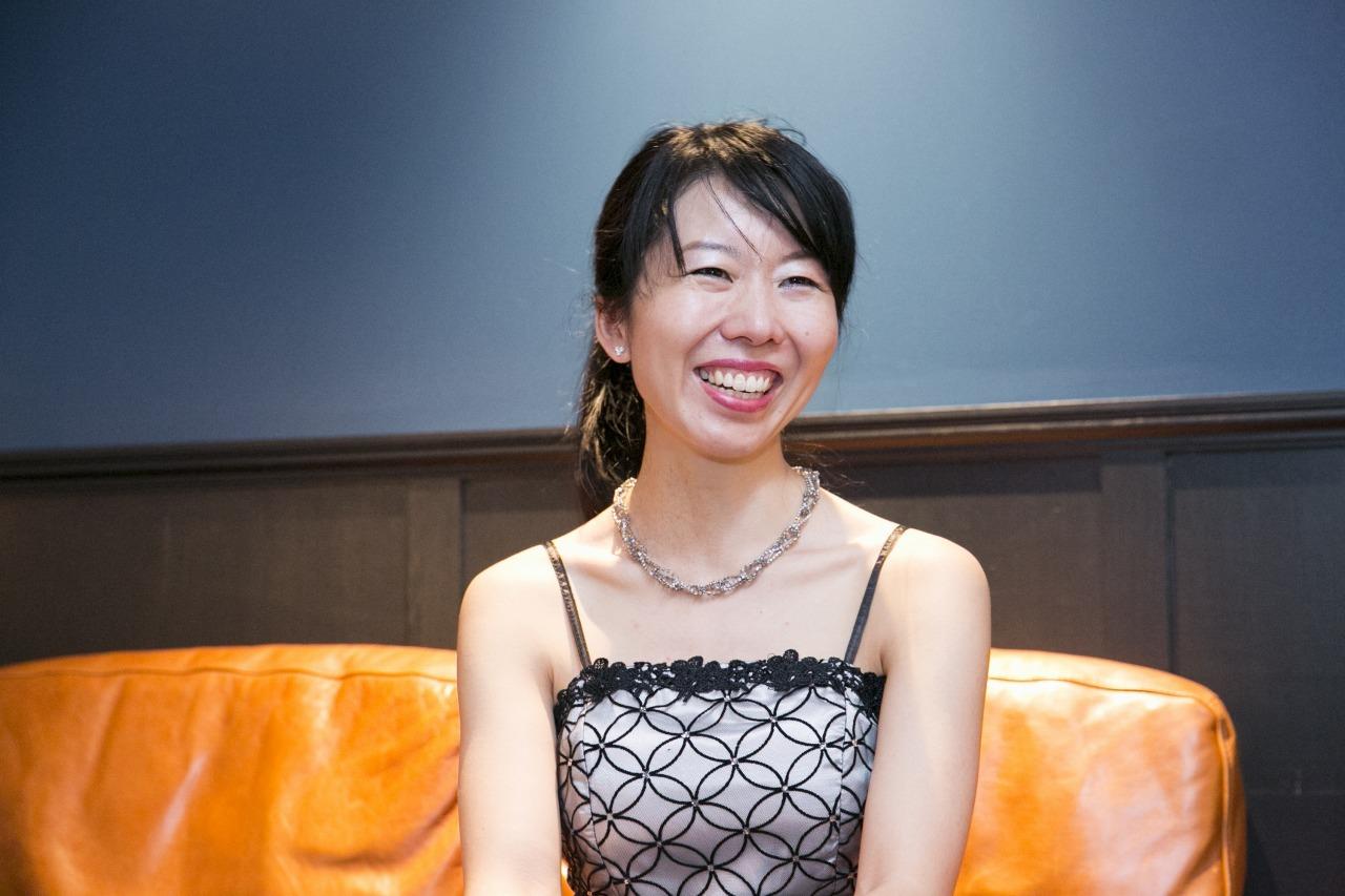インタビューの模様 撮影=鈴木久美子