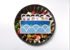 6つ子のいい夢見ろよ!おやすみお布団ケーキ  1,490円(税抜)