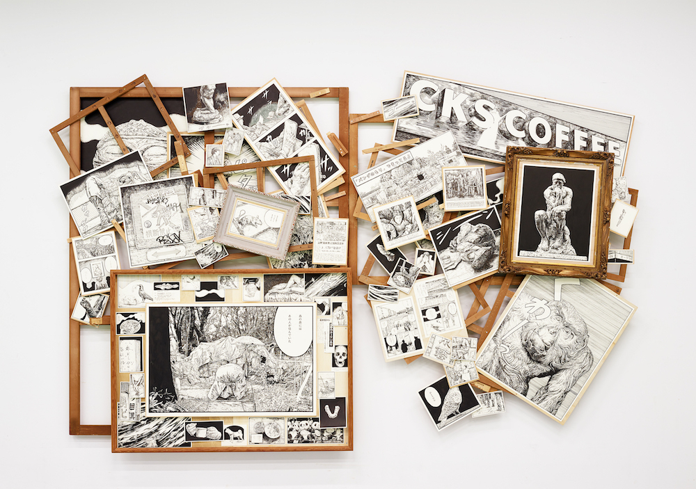 【VOCA賞】尾花 賢一《上野山コスモロジー》  インク、ワトソン紙、木枠  [250cm×400cm×20cm]