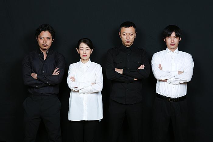 左から上川路啓志、山本郁子、石橋徹郎、奥田一平