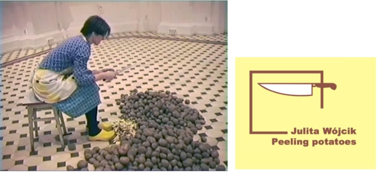 ユリタ・ヴイチク《芋の皮剥き》2001年 シングルチャンネル・ヴィデオ、カラー、サウンド(10分52秒)  ザヘンタ国立美術館(ワルシャワ)所蔵作品 Collection of Zachęta -