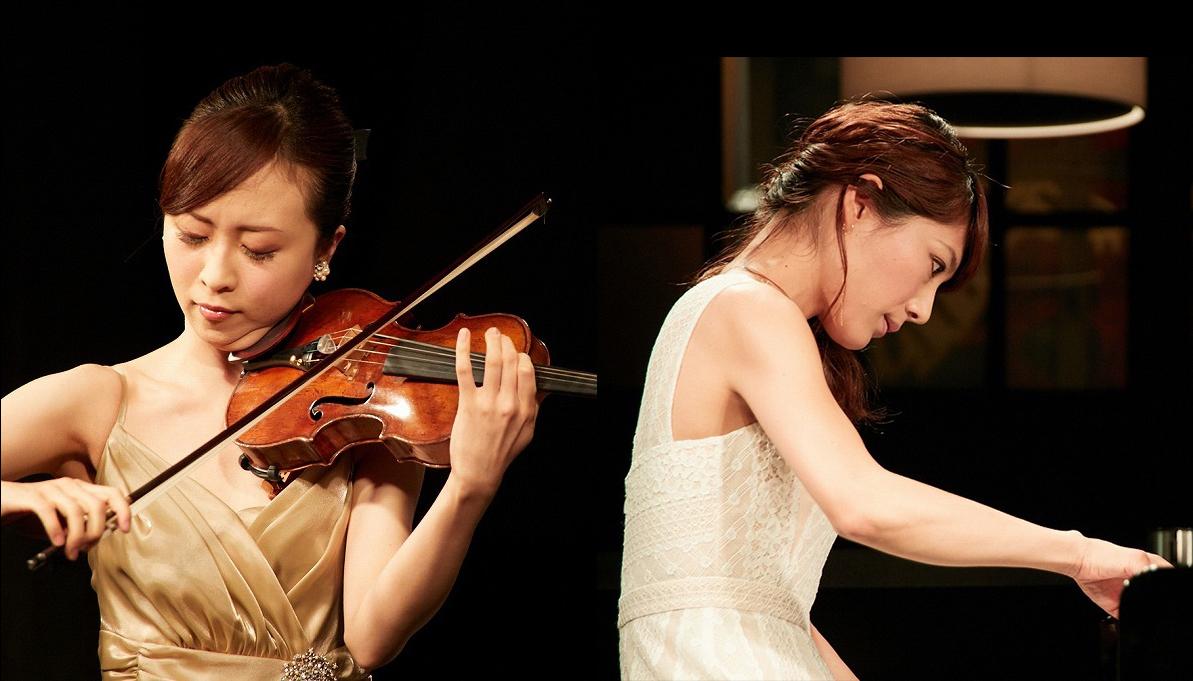千葉清加(ヴァイオリン)、須藤千晴(ピアノ)
