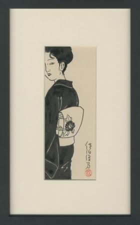 佐伯俊男 TOSHIO SAEKI 肉筆原画 額サイズ37×23cm