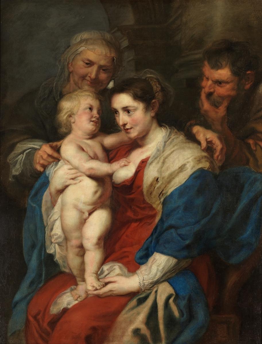 ペーテル・パウル・ルーベンス《聖アンナのいる聖家族》1630年頃 マドリード、プラド美術館蔵 © Museo Nacional del Prado