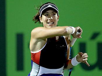 昨年の『東レ パン パシフィック オープンテニストーナメント』ベスト4のガルビネ・ムグルサ