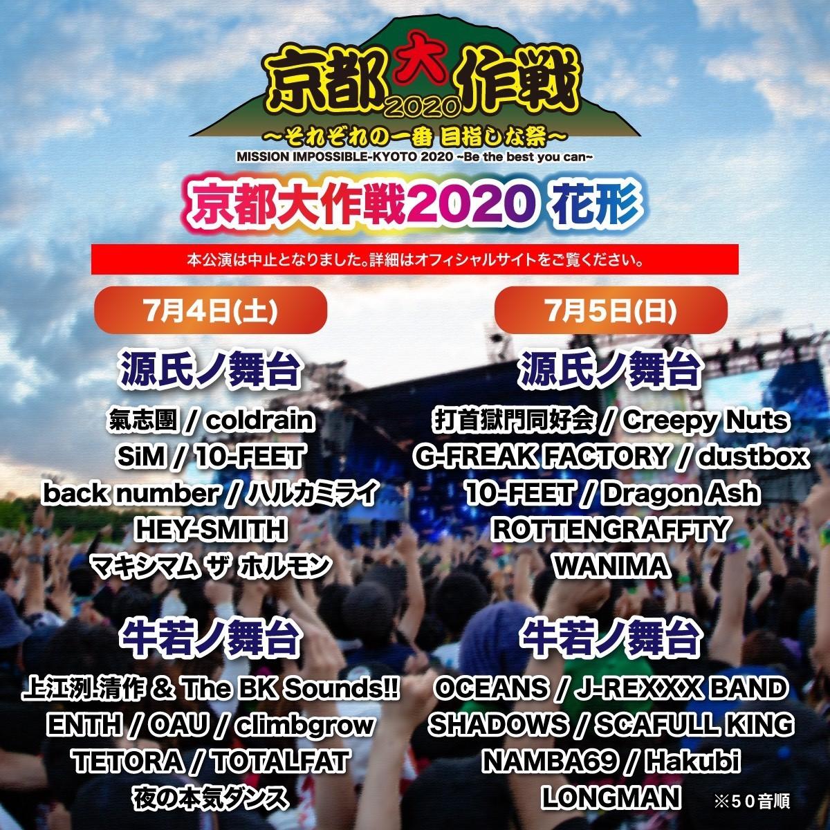 『京都大作戦2020〜それぞれの一番 目指しな祭〜』