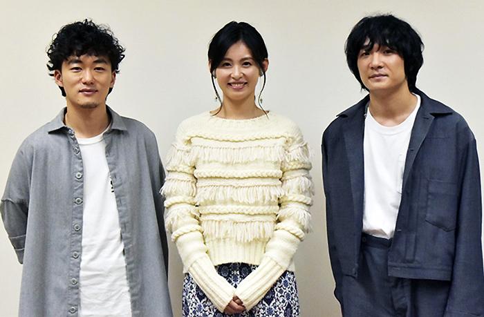 (左から)松居大悟、本仮屋ユイカ、石崎ひゅーい