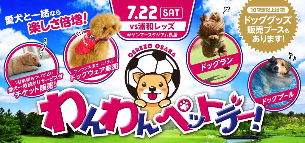 7月22日に「セレッソ大阪 わんわんデー」を開催