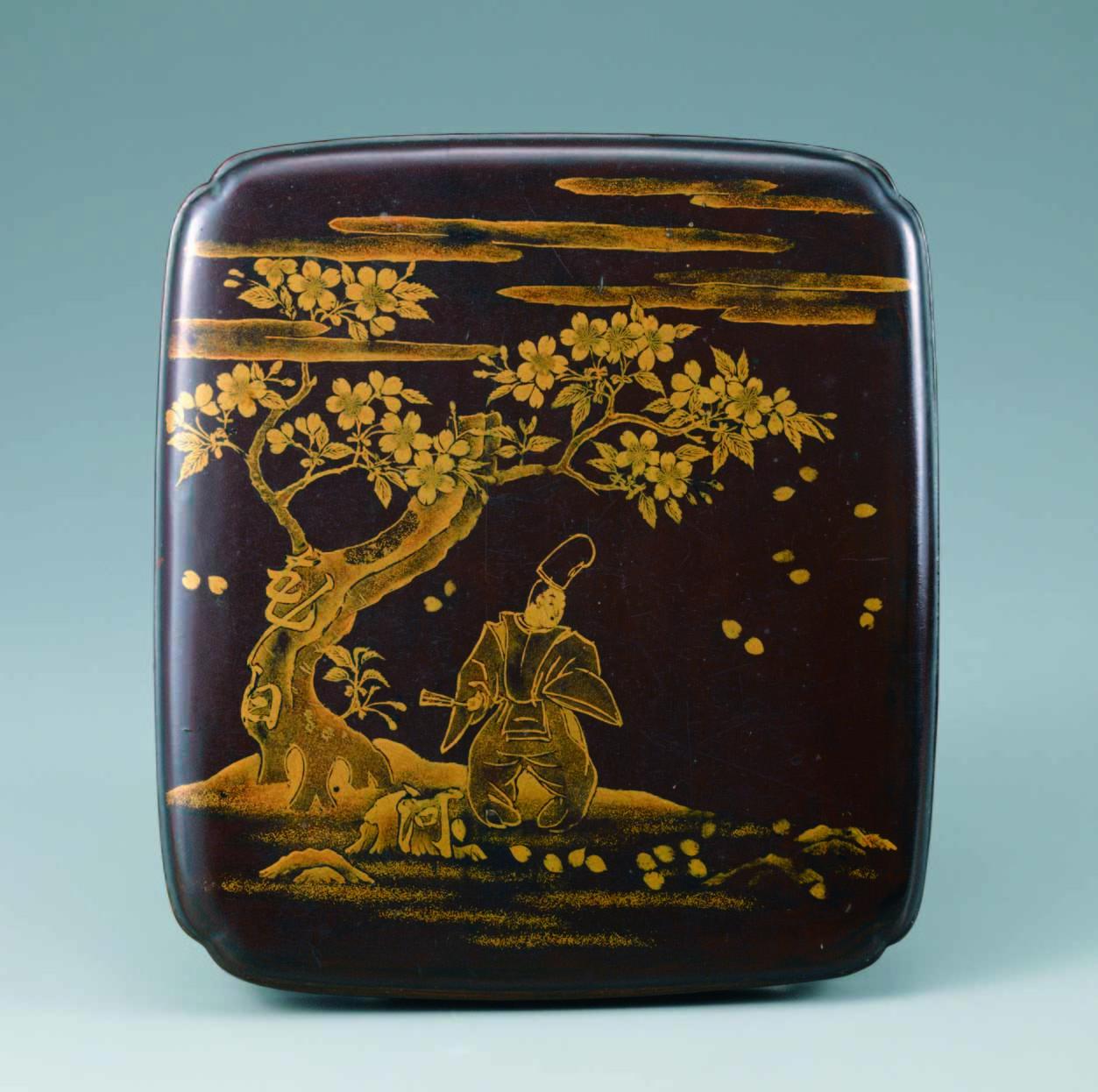 重要文化財 花白河蒔絵硯箱 日本・室町時代 15世紀 根津美術館蔵
