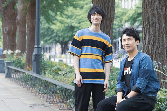 (左から)百瀬朔、山本卓卓