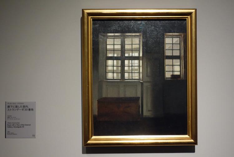 ヴィルヘルム・ハマスホイ《廊下に面した室内、ストランゲーゼ30番地》1903年 デーヴィズ・コレクション