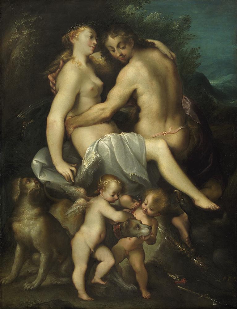 ヨーゼフ・ハインツ(父) 《ゼウスとカリスト》 1603年のやや後 油彩/銅板 ウィーン美術史美術館 Kunsthistorisches Museum, Wien