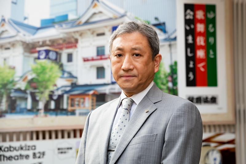 橋本さんは5月まで歌舞伎座の支配人をつとめた。