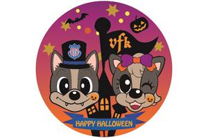 仮装で来場した先着500名に「Happy VFK Halloween」オリジナル缶バッチをプレゼント