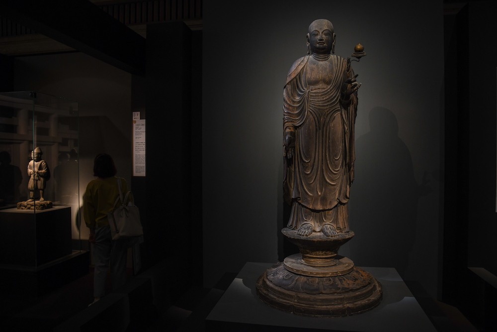 国宝《地蔵菩薩立像》平安時代・9世紀 奈良・法隆寺蔵