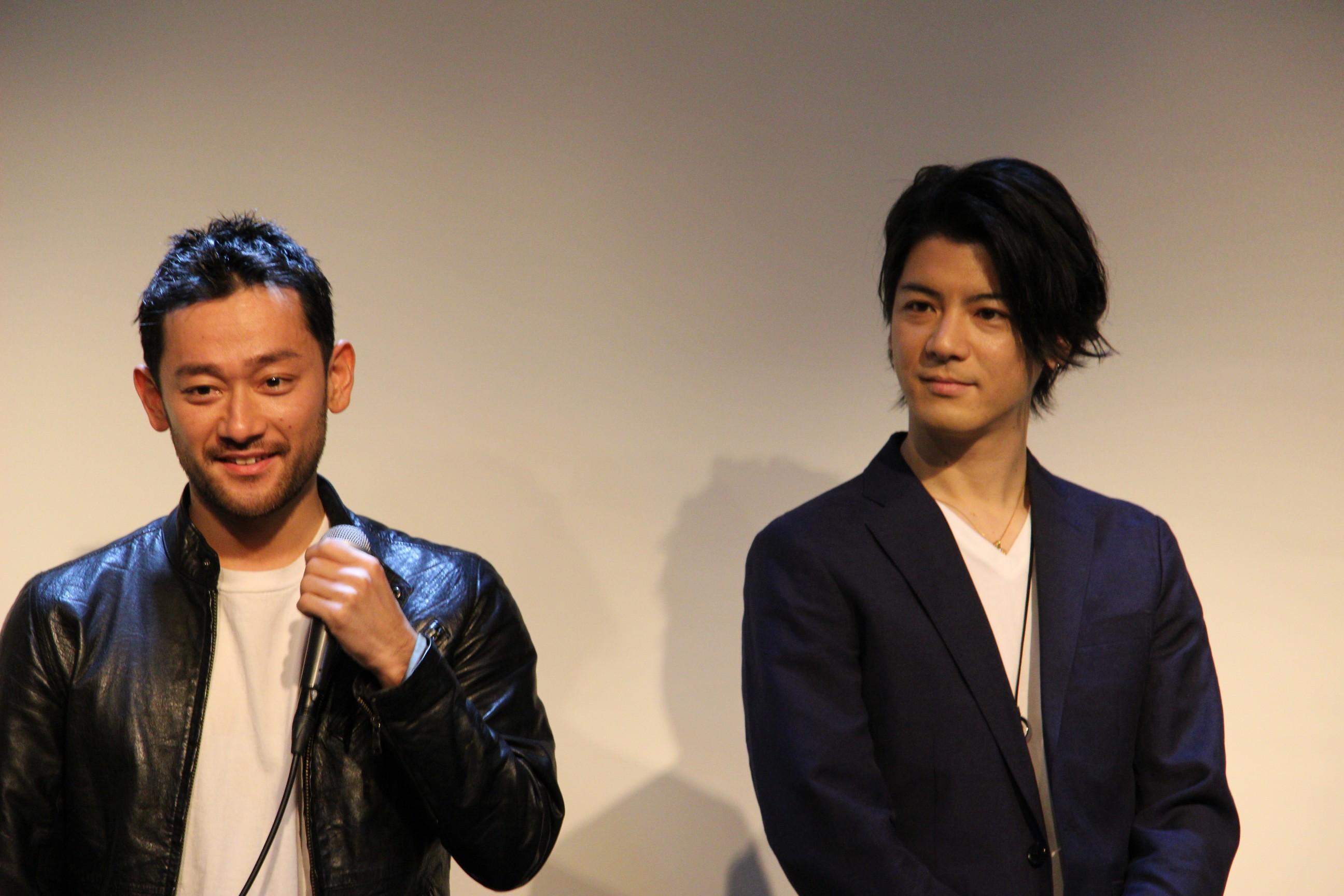 『昭和最強高校伝 國士参上!!』山根和馬(左)と中村誠治郎(右)