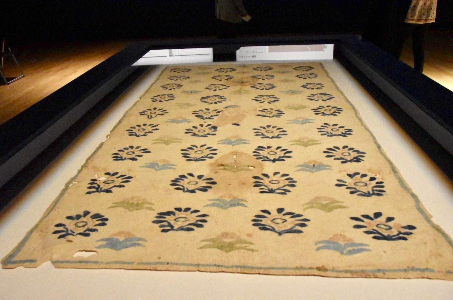 正倉院宝物《花氈》 中国・唐時代 8世紀 正倉院蔵 前期展示