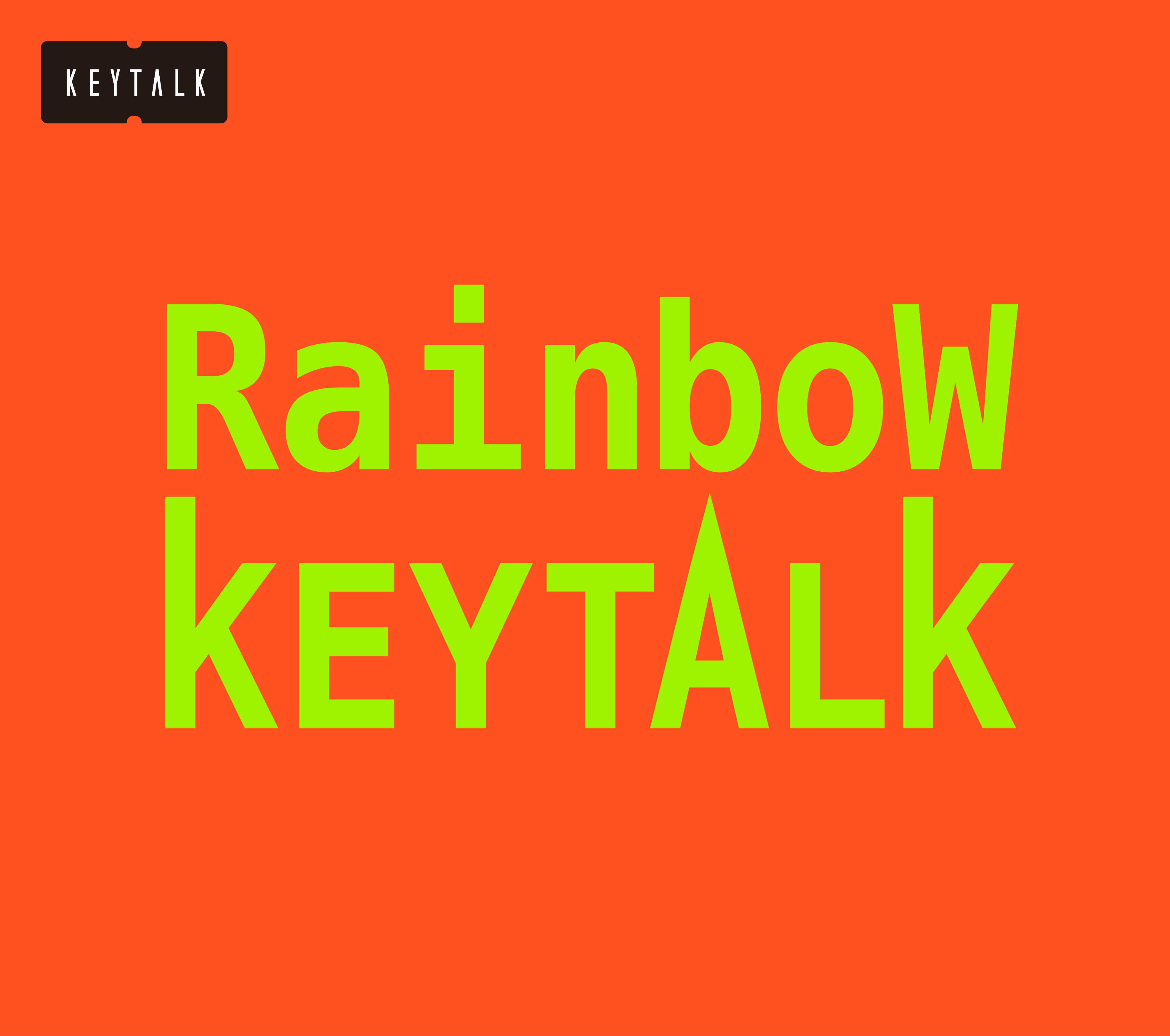 KEYTALK『Rainbow』完全生産限定盤