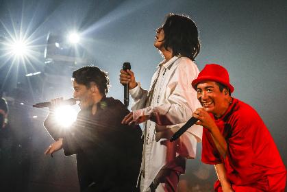 KICK THE CAN CREW、16年ぶり日本武道館ワンマンで歴史を振り返る KREVA「みんなと楽しむために、曲を作ってるんだな」