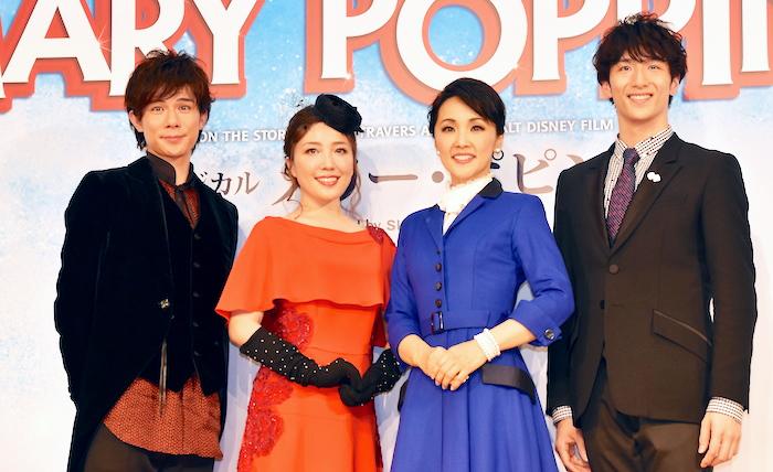 柿澤勇人、平原綾香、濱田めぐみ、大貫勇輔(左から)