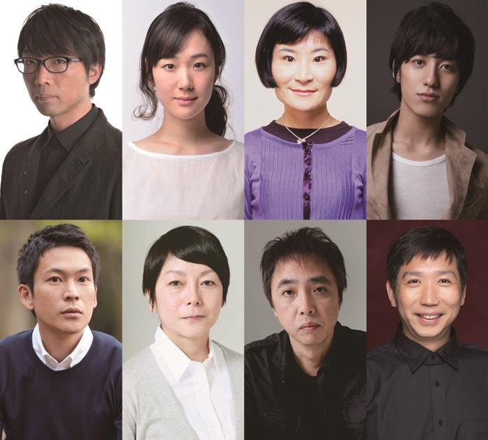 (上段左から)倉持裕、黒木華、片桐はいり、水田航生(下段左から)川口覚、千葉雅子、寺十吾、梶原善