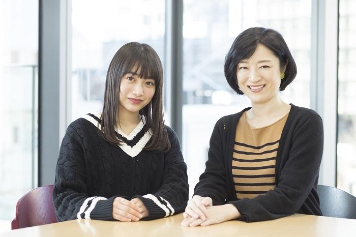 (左から)福田愛依 しゅはまはるみ