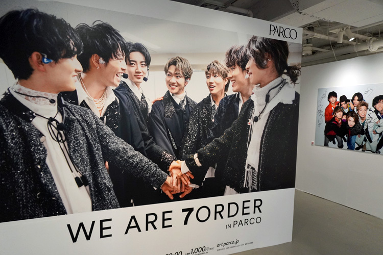 『WE ARE 7ORDER IN PARCO』展示風景