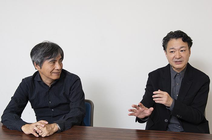 (左から)中島かずき、白井晃